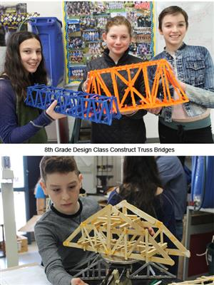8th Graders Build Truss Bridges