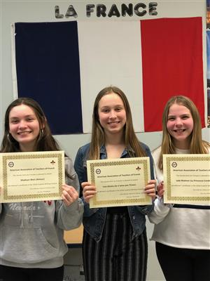 French 8 Writing Contest Winners