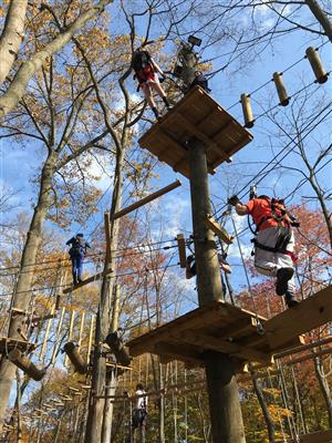MS Students on Ropes Course